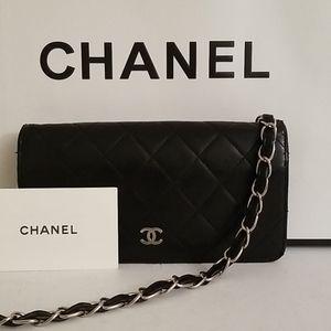 Chanel Matrasse 2 Tone Clutch Crossbody Purse